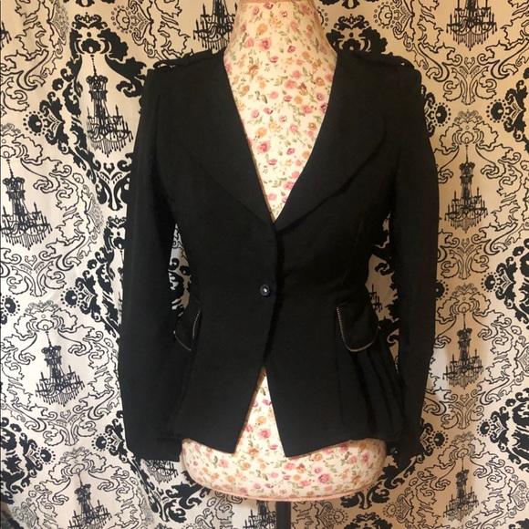 Shi Long Fashion Jackets & Blazers - Beautiful Black Shi Long Fashion Blazer